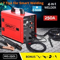 Giantz Inverter Welder MIG Welding Machine DC MAG MMA ARC Gas Gasless IGBT 250A